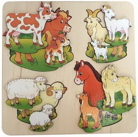 Рамка-вкладыш Нескучные игры Домашние животные рамка вкладыш нескучные игры больше меньше геометрия
