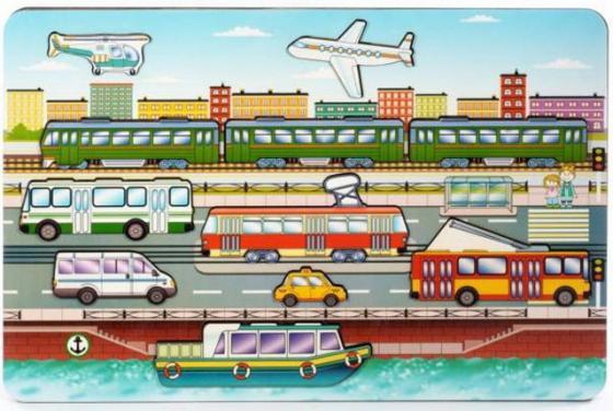 Рамка-вкладыш Нескучные игры Городской транспорт рамка вкладыш нескучные игры больше меньше геометрия
