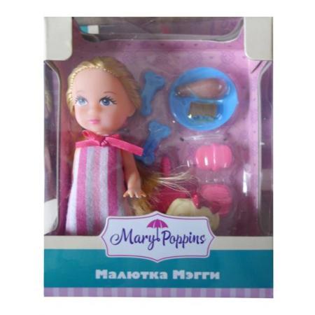 Кукла Mary Poppins Мегги с питомцем 9 см 451284 mary poppins mary poppins кукла мягконабивная моя первая кукла бекки принцесса