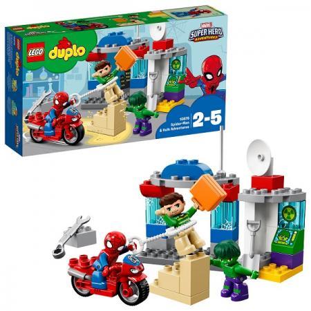 Конструктор LEGO Приключения Человека-паука и Халка 38 элементов 10876