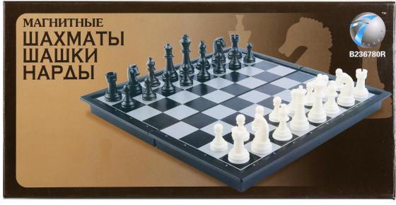 Настольная игра стратегическая Shantou 3-в-1 (шахматы, шашки, нарды) 38810 1065690 игра madon шахматы 3 в 1 143