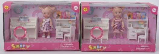 Кукла с мебелью, с аксесс. в кор. в кор.2*12шт кукла с набором одежды с мебелью с аксесс в ассорт в кор в кор 2 12шт