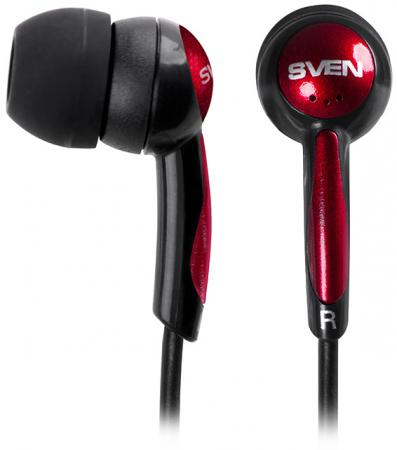 цена на Наушники Sven E-130 черный красный SV-017798