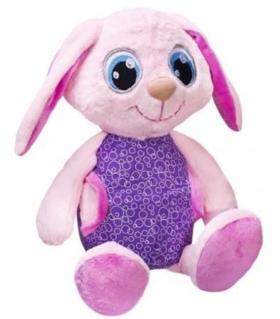 цена на Мягкая игрушка Сонный зайка Фэнси Сонный зайка фиолетовый розовый искусственный мех трикотаж