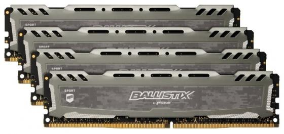 Оперативная память 16Gb (4x4Gb) PC4-19200 2400MHz DDR4 DIMM CL16 Crucial BLS4K4G4D240FSB цена