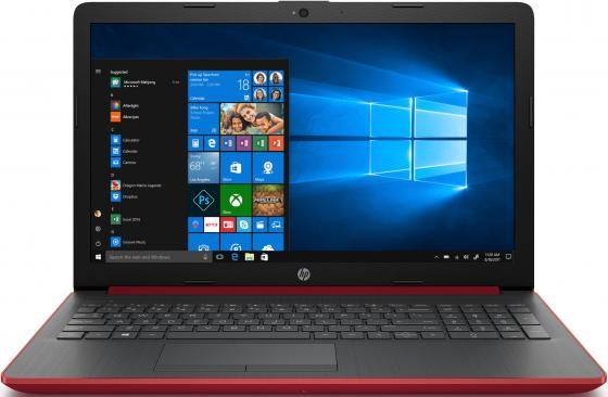 "Ноутбук HP 15-da0188ur 15.6"" 1920x1080 Intel Core i3-7020U 128 Gb 4Gb nVidia GeForce MX110 2048 Мб красный Windows 10 Home 4MT69EA ноутбук lenovo ideapad 310 15 15 6 1920x1080 intel core i5 7200u 500gb 4gb nvidia geforce gt 920mx 2048 мб белый windows 10 home 80tv00asrk"