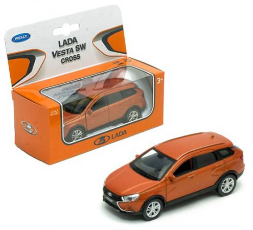 Автомобиль WELLY Lada Vesta SW Cross 1:34-39 асорти автомобиль welly bmw 535i 1 24 серый