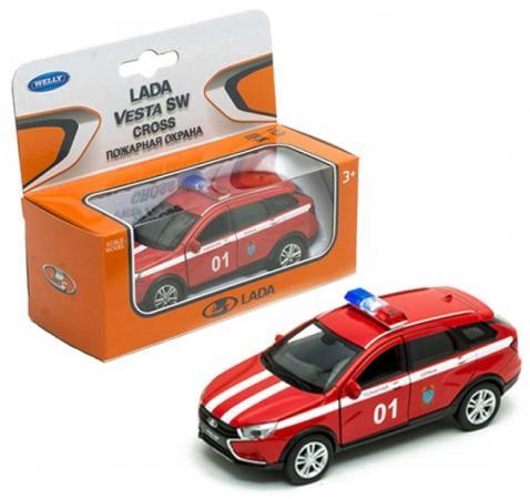 цена на Автомобиль WELLY Lada Vesta SW Cross. Пожарная охрана 1:34-39 красный 43763FS