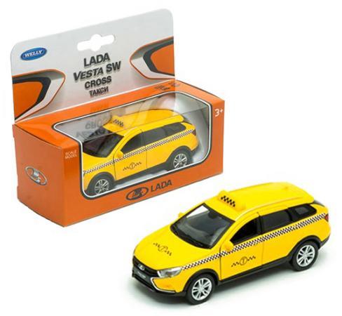 Такси WELLY Lada Vesta SW Cross 1:34-39 желтый 43763TI автомобиль welly уаз 31514 военная автоинспекция 1 34 39 зеленый 4891761238070