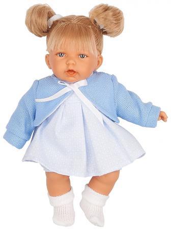 Кукла JUAN ANTONIO Дели в голубом 27 см со звуком кукла лана брюнетка juan antonio 27 см 1112br