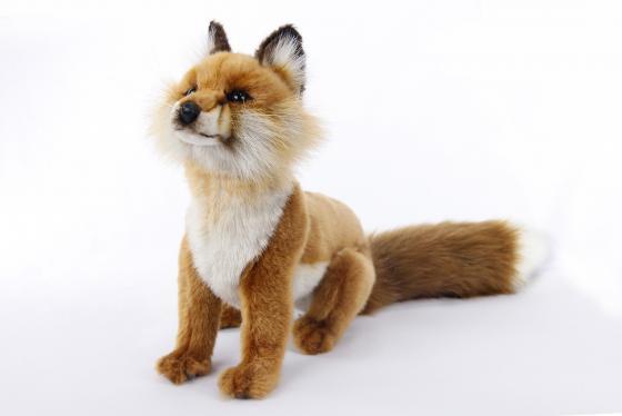 Фото - Мягкая игрушка лисица Hansa Рыжая лиса сидящая 26 см текстиль пластик металл мягкие игрушки hansa лисица сидящая 24 см