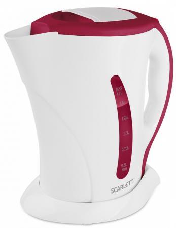 Чайник электрический Scarlett SC-EK14E09 2200 Вт белый 1.7 л пластик чайник электрический scarlett sc ek18p53 1л 1600вт белый серый корпус пластик