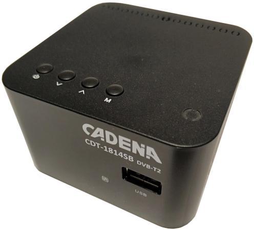 Фото - Ресивер DVB-T2 Cadena CDT-1814SB черный tv тюнер cadena cdt 1815sbd черный