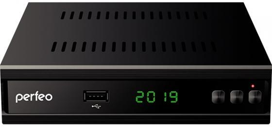 Фото - Perfeo DVB-T2/C приставка MEDIUM для цифр.TV, Wi-Fi, IPTV, HDMI, 2 USB, DolbyDigital, обуч.пультДУ приставка
