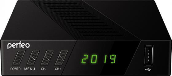 "Perfeo DVB-T2/C приставка ""STREAM-2"" для цифр.TV, Wi-Fi, IPTV, HDMI, 2 USB, DolbyDigital, пульт ДУ"