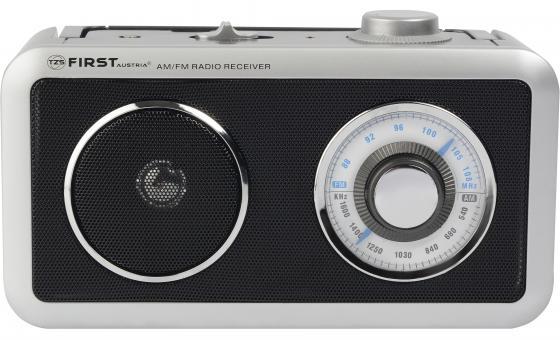 1905-BA Радиоприемник FIRST, AM/FM, выходы AUX/наушники, питание AC/DC. Питание от сети/батареек.