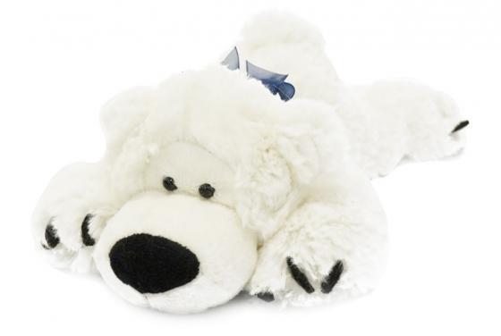 купить Мягкая игрушка Мишка Лежебока MAXITOYS MT-MRT031316-25 25 см белый искусственный мех трикотаж онлайн