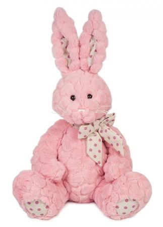 Мягкая игрушка Зайка Пинки MAXITOYS MT-TS112017-4-30S 30 см розовый искусственный мех текстиль цена 2017