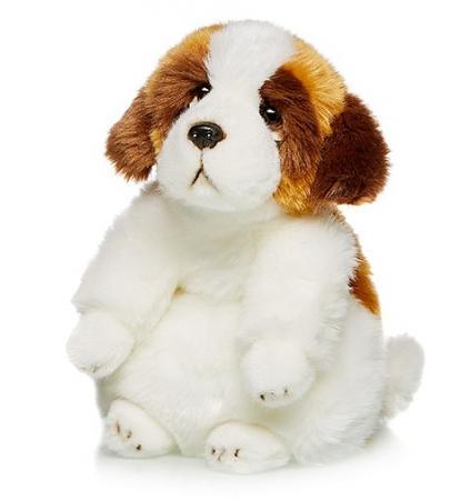 Мягкая игрушка Сенбернар MAXILIFE MT-TSC091410-24B 24 см белый коричневый искусственный мех трикотаж шампунь сенбернар