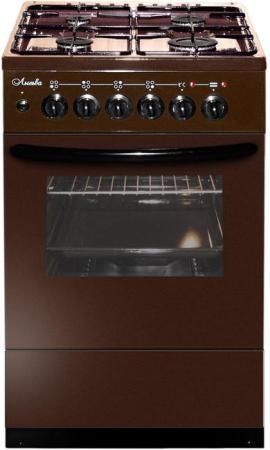 Комбинированная плита Лысьва ЭГ 404 М2С-2У стеклянная крышка коричневый цена
