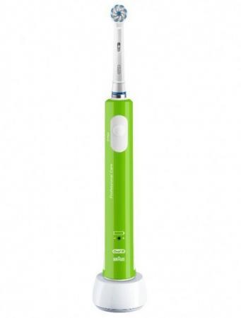 Зубная щетка электрическая Oral-B Junior зеленый/белый