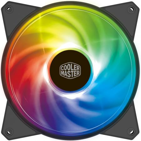 Cooler Master MF120R ARGB LED Fan, PWM 12v 2 pin computer cooler small cooling fan 120mm x 120mm x 25mm pc box system hydraulic cooling fan for computer heatsink z09