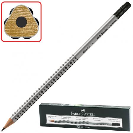 Карандаш графитовый Faber-Castell GRIP 2001 185 мм faber castell корректор карандаш perfection