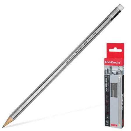 Карандаш графитовый Erich Krause Megapolis 32860 175 мм цена