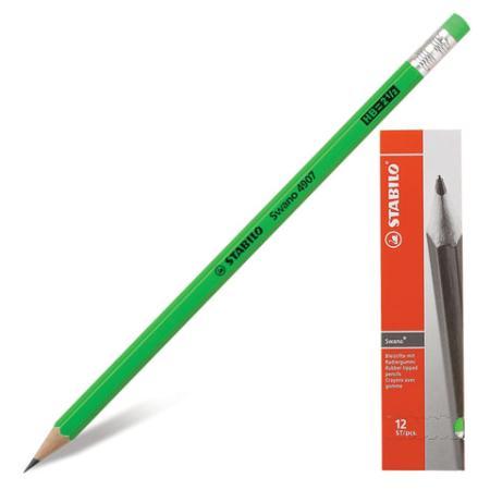 Карандаш графитовый Stabilo 181100 Swano 175 мм карандаш графитовый stabilo 181095 othello 188 мм
