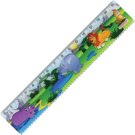 Фото - Линейка пластиковая 15 см, ПИФАГОР Сафари, цветная печать, с волнистым краем, европодвес, 210632 линейка деревянная 30 см пифагор 210669