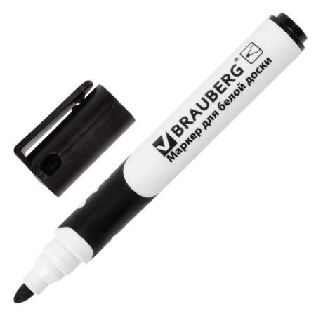 Маркер для доски BRAUBERG 151248 5 мм черный цена