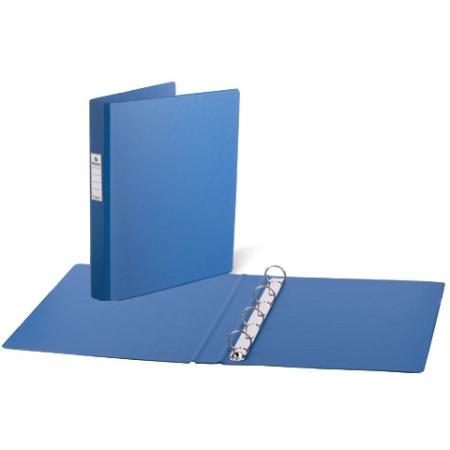 Папка на 4 кольцах BRAUBERG, картон/ПВХ, 35 мм, синяя, до 180 листов, 221484 папка файл на 4 кольцах темно синяя pvc 35 мм диаметр 20мм 08 1693 2 тс