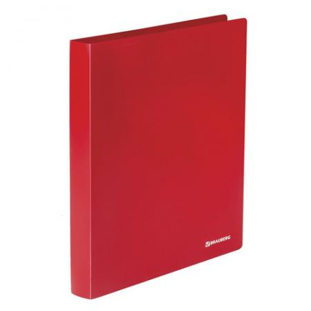 "Папка на 2 кольцах BRAUBERG ""Office"", 32 мм, красная, до 250 листов, 0,5 мм, 227500 папка brauberg office а4 250 листов на 2 кольцах синий"