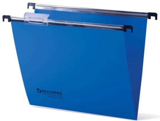 Подвесные папки пластиковые BRAUBERG(Италия), комплект 5 шт., 315х245 мм, до 80 л. А4, синие, пластиковые табуляторы, 231797 цена