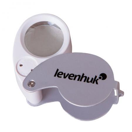 Лупа LEVENHUK Zeno Gem M5, увеличение х40, диаметр линзы 25 мм, подсветка, складная, металл, 70436 цена и фото