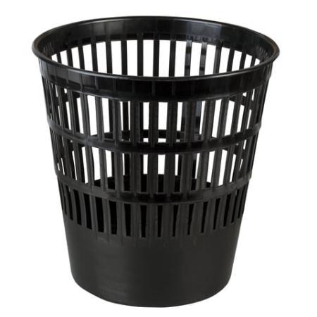 Корзина для бумаг BRAUBERG 16 л, черная, 231165 16л черная корзина для бумаг цельнолитая черная 18 литров