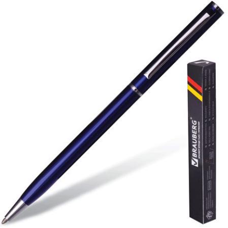 Ручка шариковая поворотная BRAUBERG Delicate Blue бизнес-класса 141400 синий 1 мм автокресло nania sena easyfix 15 36кг bonjour blue синий 949163