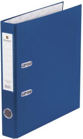 Папка-регистратор BRAUBERG с покрытием из ПВХ, 50 мм, синяя (удвоенный срок службы), 220888 папка регистратор brauberg с покрытием из пвх 80 мм с уголком синяя удвоенный срок службы 227191