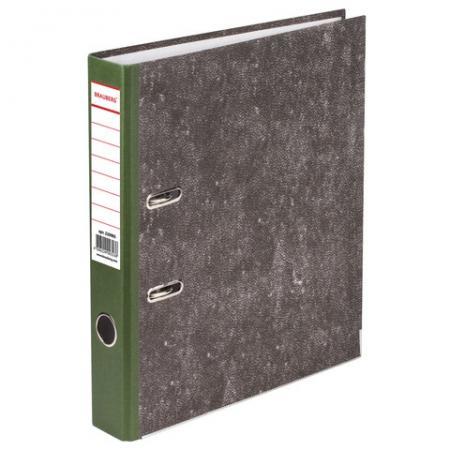 Папка-регистратор BRAUBERG, фактура стандарт, с мраморным покрытием, 50 мм, зеленый корешок, 220985 цена