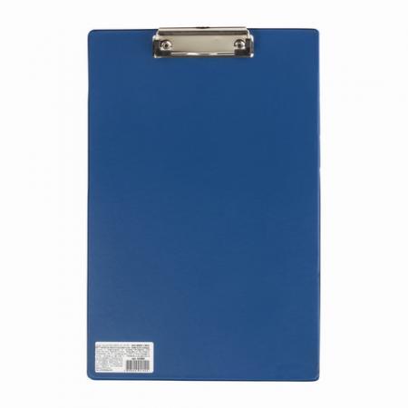 Доска-планшет BRAUBERG Comfort, с верхним прижимом, А4, 23х35 см, картон/ПВХ, Россия, синяя, 222659 планшет а4 формулы лам картон