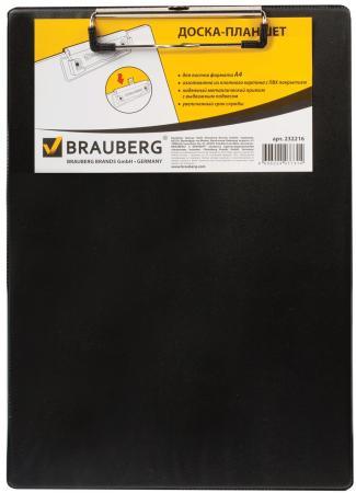 Доска-планшет BRAUBERG NUMBER ONE A4, с верхним прижимом, А4, 22,8х31,8 см, картон/ПВХ, черная, 232216 планшет а4 формулы лам картон