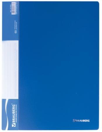 Фото - Папка 60 вкладышей BRAUBERG стандарт, синяя, 0,8 мм, 221605 папка 100 вкладышей brauberg стандарт синяя 0 9 мм 221609