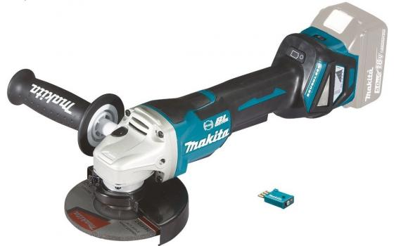 Шлифмашина угл MAKITA DGA518ZU ф125мм, 18В, Li-ion, 3000-8500\\м, AWS/Bluetooth, anti-rest шлифмашина угл makita dga518zu ф125мм 18в li ion 3000 8500 м aws bluetooth anti rest