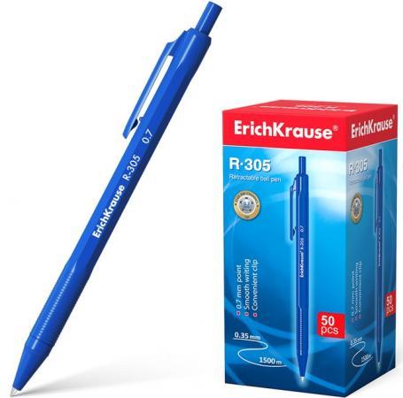 Набор шариковых ручек автоматическая Erich Krause R-305 39055 50 шт синий 0.35 мм erich krause набор тетрадей родные просторы пруд 24 листа в линейку 10 шт