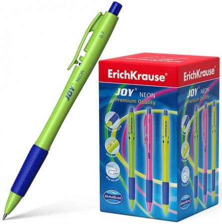 Ручка шариковая автоматическая Erich Krause JOY® Neon, Ultra Glide Technology 43347 синий 0.35 мм цена 2017