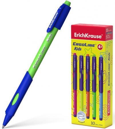 Ручка шариковая автоматическая Erich Krause ErgoLine® Kids, Ultra Glide Technology 41539 синий 0.35 мм цена 2017