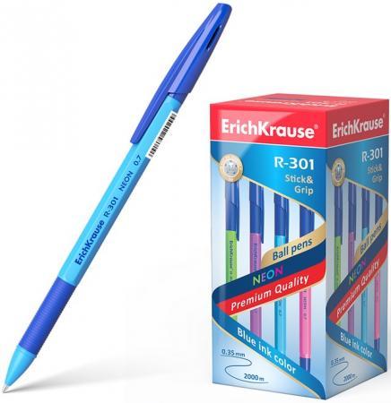 """Ручка шариковая ERICH KRAUSE """"R-301 Neon"""", корпус тонированный ассорти, узел 0,7 мм, линия 0,35 синяя, 42751"""
