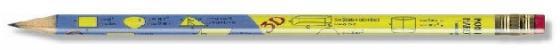 Карандаш чернографитный KOH-I-NOOR, 1 шт., Formulas, НВ, с резинкой, заточенный, 1231002478KS карандаш чернографитный koh i noor 1570 b 17 5 см 1570 b