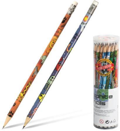 Карандаш графитовый Koh-i-Noor Safari + Sea НВ 1231036005TD 175 мм чернографитный карандаш чернографитный koh i noor 1570 b 17 5 см 1570 b