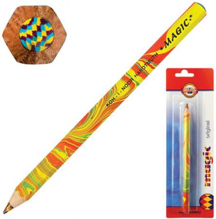 Карандаш цветной Koh-i-Noor Magic Original 3405001008BL 175 мм утолщенные карандаш цветной koh i noor mondeluz бананово желтый 175 мм акварельные 3720 41